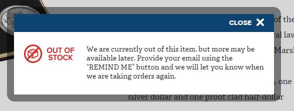 77f30ee0dbc087 US Mint Updates Product Status Descriptions