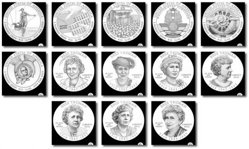 Design Candidates for Bess Truman Fist Spouse Gold Coins
