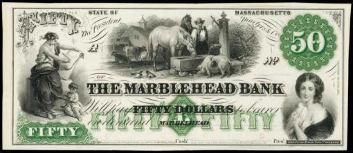 Marblehead, Massachusetts. Marblehead Bank. ND $50