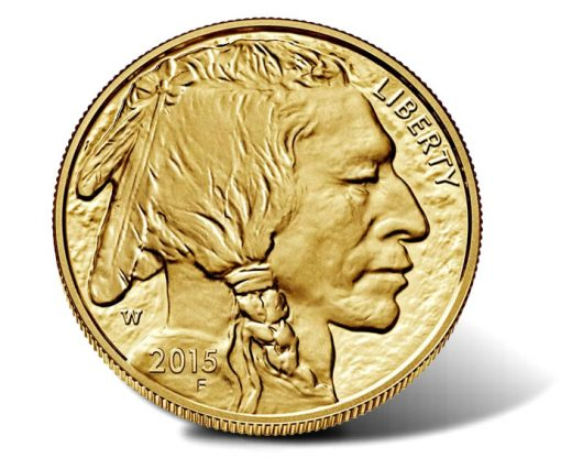 Obverse of 2015-W Proof American Gold Buffalo Coin