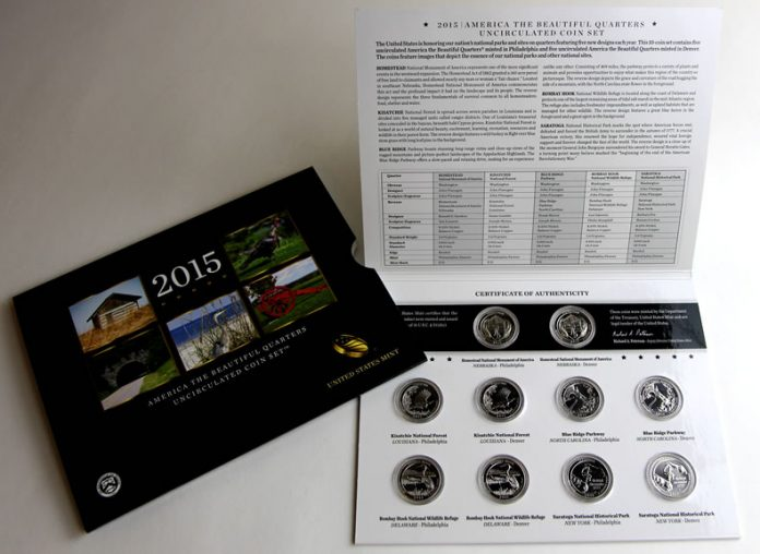 Photo of the 2015 America the Beautiful Quarters Uncirculated Set