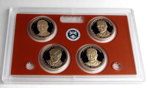 Presidential $1 Coins (Obverses) in 2015 Proof Set