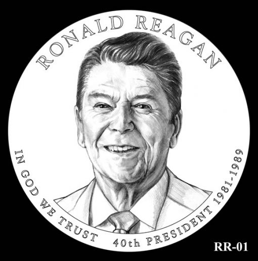 Recommended 2016 Ronald Reagan Presidential $1 Coin Design, RR-01