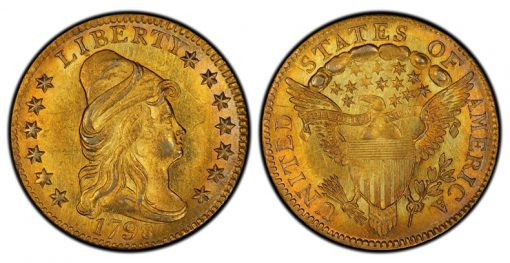 1798 Capped Bust Right Quarter Eagle