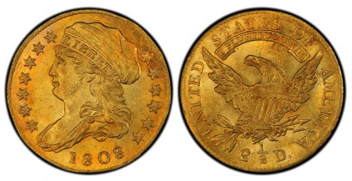 1808 Capped Bust Left Quarter Eagle
