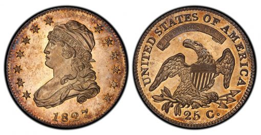 1827/3/2 Capped Bust Quarter