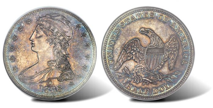 1838-O Eliasberg Reeded Edge half-dollar