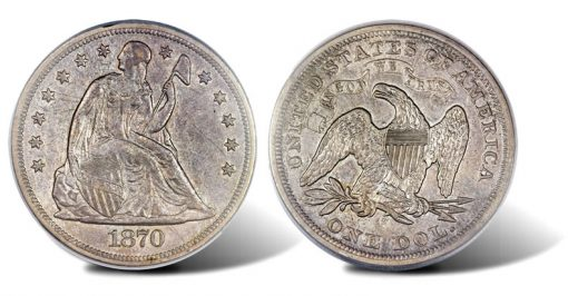 1870-S Seated Liberty Dollar