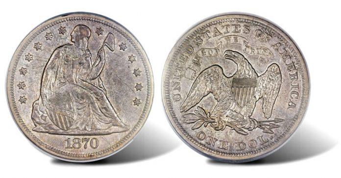 1870-S Seated Liberty Dollar
