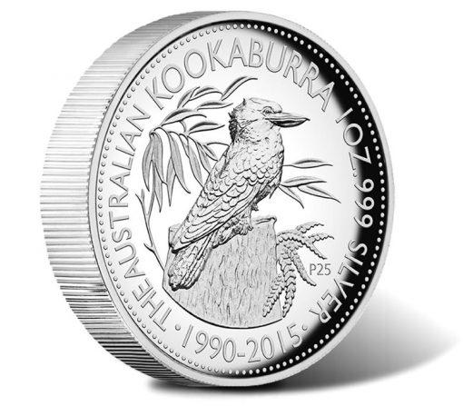 2015 $1 Australian Kangaroo High Relief Silver Coin