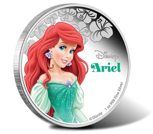 2015 $1 Disney Princess Ariel Silver Proof Coin
