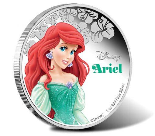 2015 $1 Disney Princess Ariel Silver Proof Coin