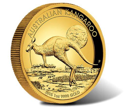 2015 $100 Australian Kangaroo High Relief Gold Coin
