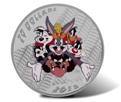 2015 $20 Merrie Melodies Silver Coin