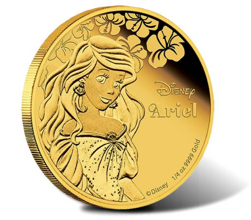 2015 $25 Disney Princess Ariel Gold Proof Coin