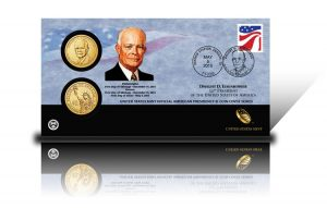 2015 Dwight D. Eisenhower $1 Coin Cover