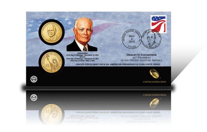2015 Dwight D. Eisenhower $1 Coin Cover