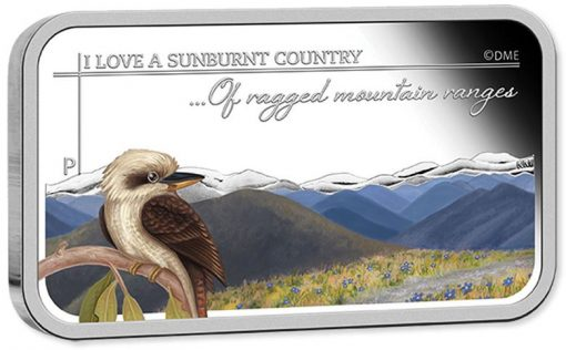2015 Ragged Mountain Ranges Silver Rectangle Coin