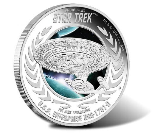 2015 U.S.S. Enterprise Silver Coin