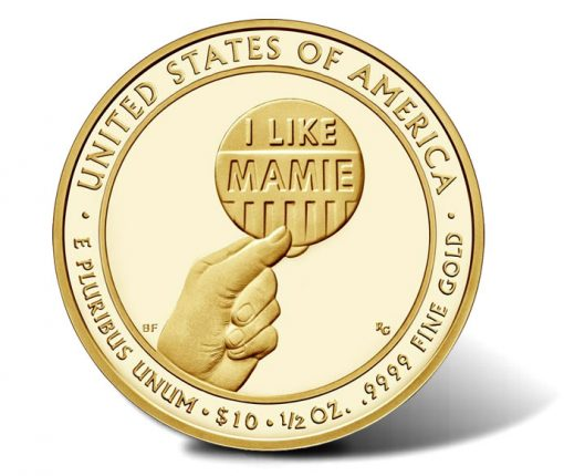 2015-W $10 Proof Mamie Eisenhower First Spouse Gold Coin - Reverse