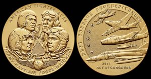 American Fighter Aces Gold Medal Awarded, Bronze for Public