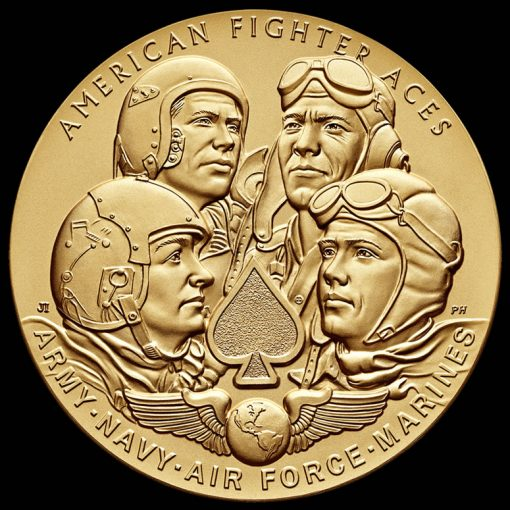 American Fighter Aces Bronze Medal, Obverse