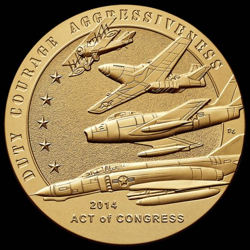 American Fighter Aces Bronze Medal, Reverse