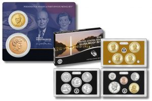 Eisenhower $1 and Medal Set and 2015 Silver Proof Set