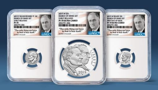 NGC Special Label for 2015 March of Dimes Silver Set