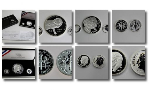 Photo collage of 2015 March of Dimes Special Silver Set
