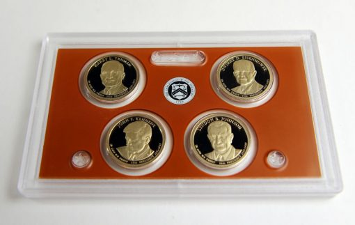 Presidential $1 Coins, Obverses, in 2015 Silver Proof Set