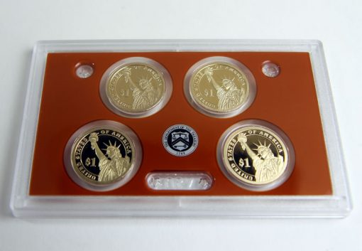 Presidential $1 Coins, Reverses, in 2015 Silver Proof Set