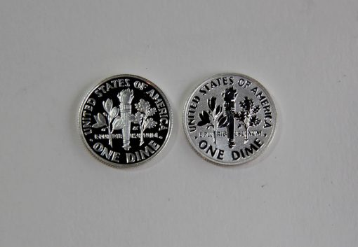 Proof and reverse proof 2015 Roosevelt Dimes - reverses
