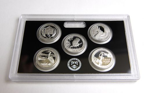 Quarters, Reverses, in 2015 Silver Proof Set
