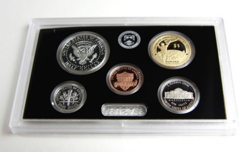 Reverses of 1c, 5c, 10c, 50c and $1 in 2015 Silver Proof Set