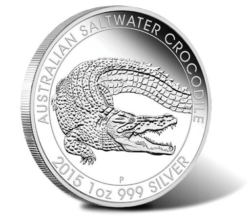 2015 $1 Australian Saltwater Crocodile 1 oz Silver Proof Coin