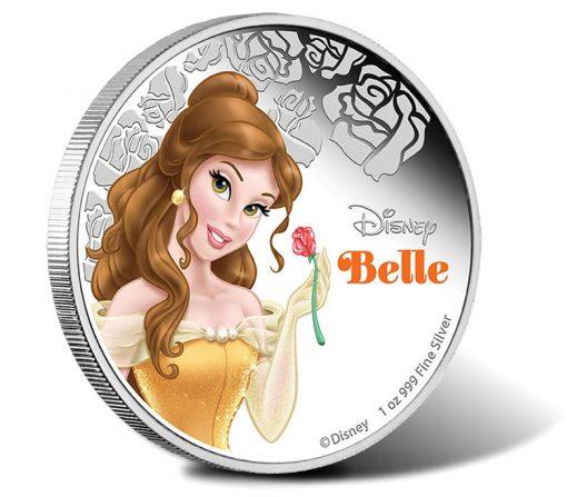2015 $1 Disney Belle Silver Coin