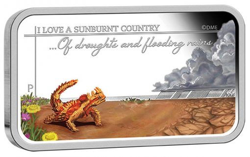 2015 $1 Drought and Flooding Rains Silver Rectangle Coin