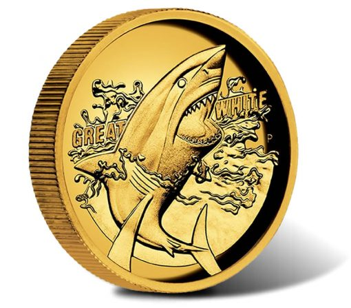 2015 $100 Great White Shark Gold Proof High Relief Coin