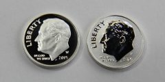 2015 10c proof and reverse proof