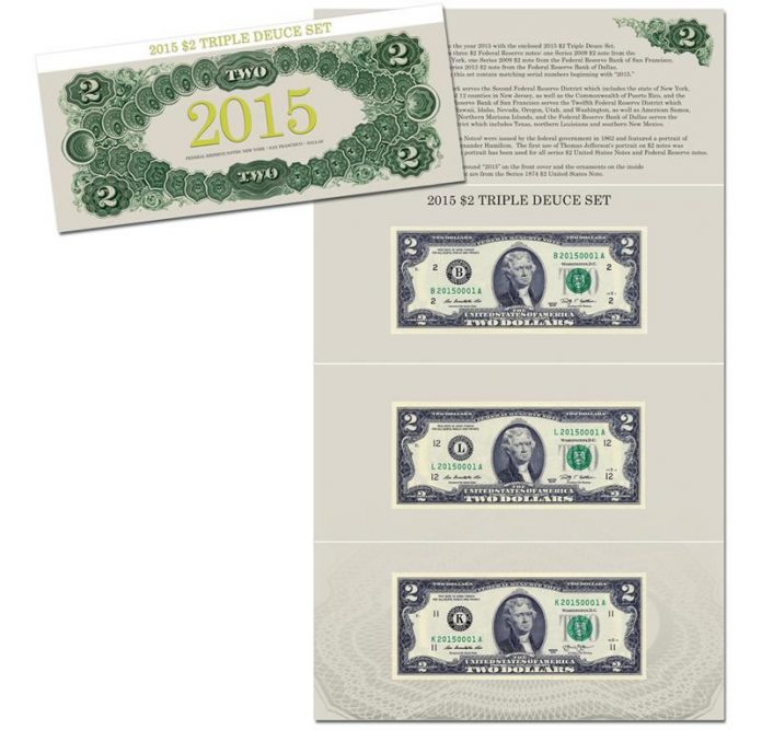 2015 $2 Triple Deuce Set