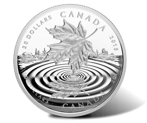 2015 $20 Maple Leaf Reflection Silver Coin