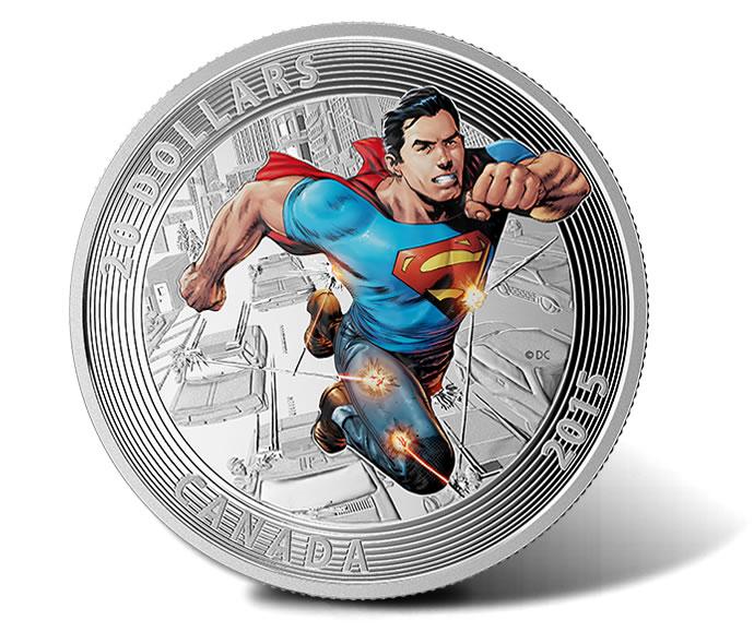 2015 $20 Superman Action Comics #1 Silver Coin