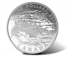 2015 $30 Canadian Silver Coin Depicts Battle of the Atlantic