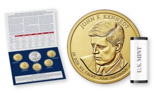 2015 Annual Uncirculated Dollar Coin Set and JKF dollar