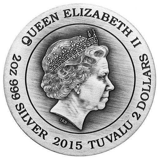 2015 Athena High Relief 2 oz Silver Coin - Obverse
