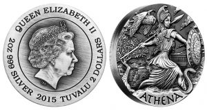 2015 Athena Coin Second in Goddesses of Olympus Series