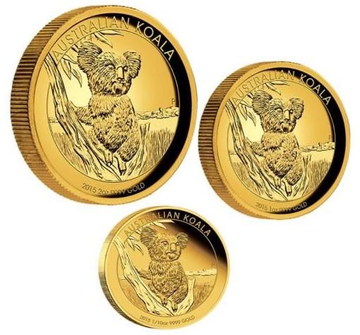 2015 Australian Koala Gold Proof Coins