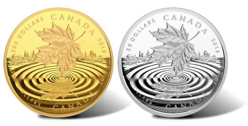 2015 Maple Leaf Reflection Gold and Silver Coins