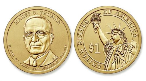 2015-P Reverse Proof Harry S. Truman Presidential $1 Coin
